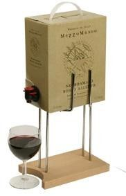 Teline viinin hanapakkaukselle, pyökki/metalli