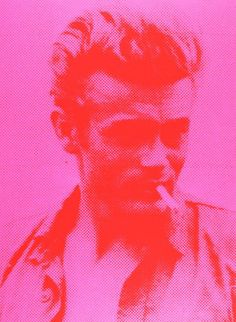 Russell Young - James Dean Portrait (Pink + Red)