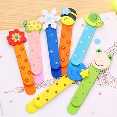 Creative Wooden Cartoon Bookmark & Ruler Cute Children Gift School Supplies Kawaii Papelaria Segnalibro Stationery Paper