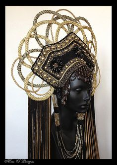 MADE TO ORDER Gold Empress Headdress by MissGDesignsShop on Etsy