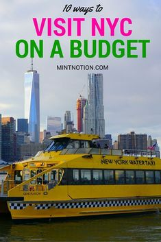 The best list for visiting NYC on a budget. I saved so much money on my New York trip with this guide! Perfect for first-time visitors!
