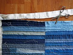 Patchwork denim quilt tutorial from Maura Grace Ambrose of Folk Fibers via Mollie Makes