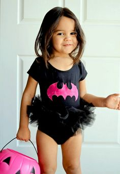 Bat Girl Tutu Bodysuit Superhero Costume Toddler Baby Girl Halloween. $34.00, via Etsy.