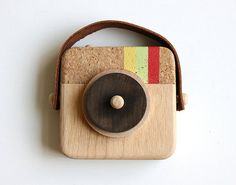The Anagram Wooden Toy Camera by Twig Creative.