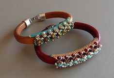 Fascinating treatment of the licorice leather bracelets.