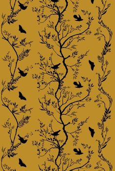 Timorous Beasties, birdbranch velvet. LOVE all of their fabrics, though wish this one was available in something other than velvet.