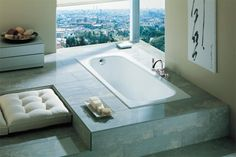The Continental range by Roca is a simple yet elegant design. Roca Bathroom, Traditional Bathroom Suites, Cast Iron Bath, Steel Bath, Wet Rooms, Bathroom Inspiration, Corner Bathtub, Contemporary Style, Home