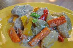 Coconut Chicken Stew with Green Tomatoes Serves 8 1 cup flour 1 teaspoon salt 1/2 teaspoon pepper 4 chicken legs, skinless 4 chicken thighs without skin 1/4 cup extra virgin olive oil 2 cups potatoes, fingerlings or cubed 2 cups carrots, chopped 1 onion, diced 2 cups peppers, chopped 2 cups green tomato wedges 1 …