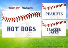 Baseball FOOD LABEL  tent  Printable DIY Digital File by customaed, $9.00