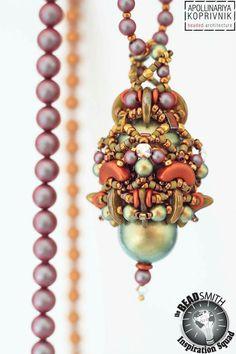 by Apollinariya Koprivnik Beaded Earrings, Beaded Jewelry, Beaded Bead, Beaded Necklaces, Silver Jewelry, Jewellery, Beading Techniques, Beading Projects, Beads And Wire
