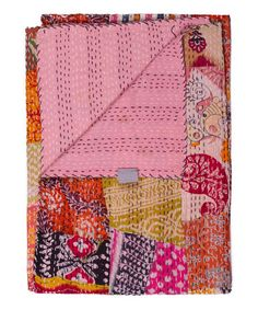 Look at this #zulilyfind! Vintage Handmade Kantha Throw Combo G #zulilyfinds