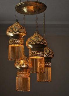 Moroccan Jeweled Pendant Lamp Lantern | Moroccan Lamp $249