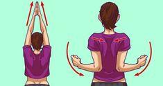 Boyun arnz hafifletecek 5 dakikalk egzersiz 5 exercises to fix rounded shoulders and neck pain Shoulder Tension, Neck And Shoulder Pain, Yoga Training, Posture Exercises, Stiff Neck, Relieve Back Pain, Arm Muscles, Lunge, Leg Pain