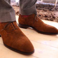 Handmade Lace Ups. ..Cognac...Nice Shoe