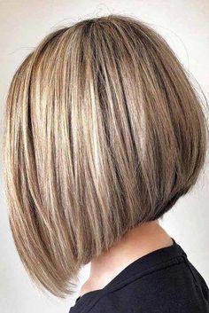 Best Bob Hairstyles & Haircuts for Women - Hairstyles Trends Stacked Haircuts, Angled Bob Haircuts, Graduated Bob Haircuts, Blonde Haircuts, Wavy Bob Hairstyles, Corte Channel, Medium Hair Styles, Short Hair Styles, Styles Bob