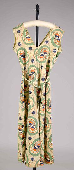 Beach pajamas Date: ca. 1935 Culture: American Medium: Cotton Credit Line: Brooklyn Museum Costume