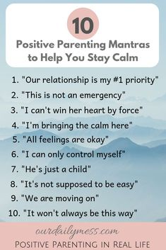 10 Positive Parenting Mantras to Help You Stay Calm - Our Daily Mess Do you struggle with staying calm with your strong-willed toddler? Use these 10 positive parenting mantras to help you keep your calm when you are having a tough parenting day. Gentle Parenting, Parenting Quotes, Parenting Advice, Parenting Classes, Parenting Styles, Positive Parenting Solutions, Practical Parenting, Mindful Parenting, Toddler Discipline