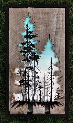 Beautiful Landscape Paintings Emerge from Creatively Carved Wood Frames,Reclaimed Wood Frames Reclaimed Wood Art Woodensense How To Produce Wood Art ? Wood art is generally the job of surrounding around and inside, provide. Diy Wood Projects, Wood Crafts, Woodworking Projects, Art Projects, Woodworking Furniture, Woodworking Plans, Arte Pallet, Pallet Art, Wooden Art