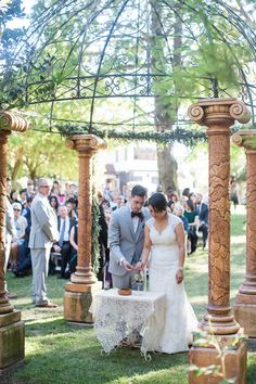 Jana and Bryce performed a unity ritual during the ceremony.   Venue: Palmdale Estates  Floral Designer: Michelle Emiko Lywood