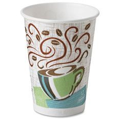 Dixie PerfecTouch Hot -Cup- 16 -fl oz- Paper- Hot Drink at Lowe's. PerfecTouch Hot Cups insulate and protect as well as double-cupping. No need to rely on double-cupping paper hot cups to avoid burning fingers. Cup Design, Coffee Design, Design Case, Design Color, Label Design, Disposable Coffee Cups, Georgia Pacific, Insulated Cups, Summer Time