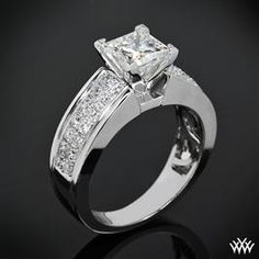 """Diamond Rings A brilliant flowing design awaits with the """"Fiotto"""" Diamond Engagement Ring. Two rows packed with 28 Round-Ideal Diamond Melee - Diamond Jewelry, Jewelry Rings, Jewellery, Geek Jewelry, Gothic Jewelry, Fashion Jewelry, Ring Set, Ring Ring, Schmuck Design"""
