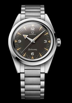 @omegawatches Railmaster 60th Anniversary Limited Edition Master Chronometer 38.6 mm – this watch contains the Master Chronometer movement, Caliber 8806 among whose many attributes is its resistance to magnetic fields up to 15,000 gauss.  More @ http://www.watchtime.com/wristwatch-industry-news/watches/the-class-of-57-omegas-1957-trilogy-limited-editions/ #omega #watchtime #Baselworld2017