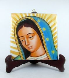 Religious gifts Virgin of Guadalupe - catholic plaque ceramic tile - A perfect catholic gift - religious decor religious art Virgin Mary Art