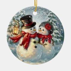 Printable Christmas Ornaments, Christmas Coasters, Painted Christmas Ornaments, Free Christmas Printables, Christmas Plates, Holiday Ornaments, Ball Ornaments, Christmas Couple, Christmas Holidays