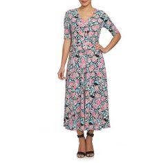 New offer for CHAUS Flowerscape Tie Waist Midi Dress fashion online. [$99]?@@>>sladress shop<<