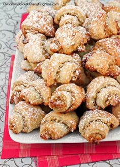 Walnut honey crescent cookies