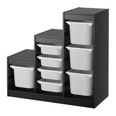 IKEA TROFAST Storage combination Black/white 99 x 44 x 94 cm A playful and sturdy storage series for storing and organising toys, sitting, playing and relaxing. Ikea Toy Storage Units, Ikea Trofast Storage, Kid Toy Storage, Craft Storage, Childrens Storage Furniture, Studio Copenhagen, Living Room Furniture Sale, Toy Organization, Ladders