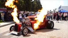 Monster Hot Rod Wild Thang Shooting Flames, Loud Engine Sound and Rev! Extreme Automotive Prolong, via YouTube.