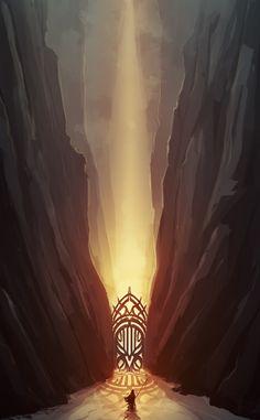 Fantasy Shrine |        Chasm Gate by cubehero