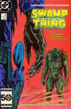 Swamp Thing 45 (Winner of Five Jack Kirby Awards!) by Alan Moore, http://www.amazon.com/dp/B000XY8DUM/ref=cm_sw_r_pi_dp_5M1fqb1GHEH72