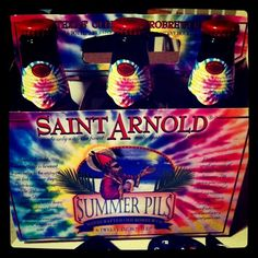 Another seasonal Saint Arnold' beer is the Summer Pils