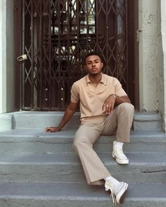 Qamraan Clothing Inspo Casual Outfit plus size casual outfits Beige Outfit, Monochrome Outfit, Neutral Outfit, Streetwear Men, Streetwear Fashion, Men Street, Street Wear, 70s Fashion Men, Thrift Fashion