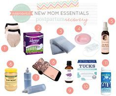 Postpartum recovery essentials - the stuff no one talks about! :)