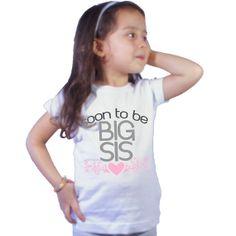 Soon to be Big Sis Pink heart Big Sister Shirt for by shirtsbynany, $14.99