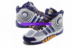 save off 23af1 53ba2 Adidas adiPower Howard 3 Dwight Howard Shoes WhitePurpleYellow Cheap NBA  Basketball Shoes Purple Womens Sneakers