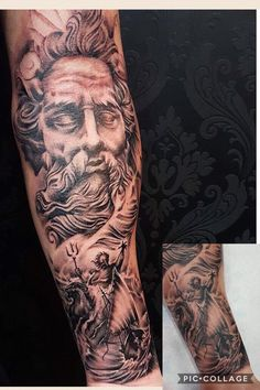 Poseidon - God of the sea tattoo (Greek Mythology)'