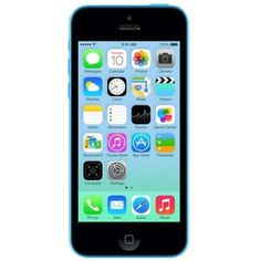 Unlocked Apple - Refurbished iPhone 5C 4G LTE with 16GB Memory Cell Phone - Blue