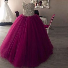 Sweet 15 Year Beaded Purple Quinceanera Dresses Cheap 2017 Vestidos 16 Year Prom Dress Ball Gown Sexy Sweetheart Lace Up Back Cute Prom Dresses, Sweet 16 Dresses, Tulle Prom Dress, Ball Gown Dresses, Pretty Dresses, Formal Dresses, Dresses Dresses, Long Dresses, Ball Gowns Prom