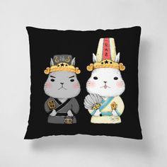 七爺八爺-black - Pillows - StarLululu李星禾   62Icon