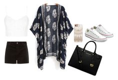 """""""Untitled #10"""" by suvisfi on Polyvore featuring Topshop, Converse, MICHAEL Michael Kors and Casetify"""