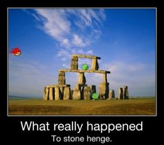 Angry Birds - What really happened to Stonehenge.