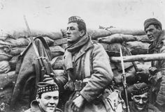 Scottish soldiers with bayonets fixed on the Western Front in 1915 prepare to go over the top. Picture: Getty Article on the Lost Lingo of WW1.