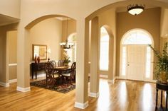 Pillars to make large foyer into usable room