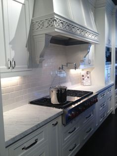 Best Kitchen Hoods Cabinets Newark Nj 80 Hood Images Range Noticed This Pin Because Of The Subway Tile Backsplash But When I Took A Closer Look Saw Tap Faucet Above Stove Top