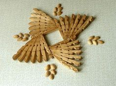 Clothes Art Craft - 30 Art and Craft Ideas to Use Wooden Clothespins for Home Decorating Popsicle Stick Crafts, Craft Stick Crafts, Decor Crafts, Home Crafts, Paper Crafts, Craft Ideas, Popsicle Sticks, Clothespin Cross, Wooden Clothespin Crafts