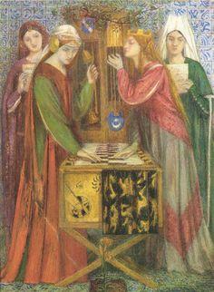 The Blue Closet, 1857 - Dante Gabriel Rossetti - WikiArt.org